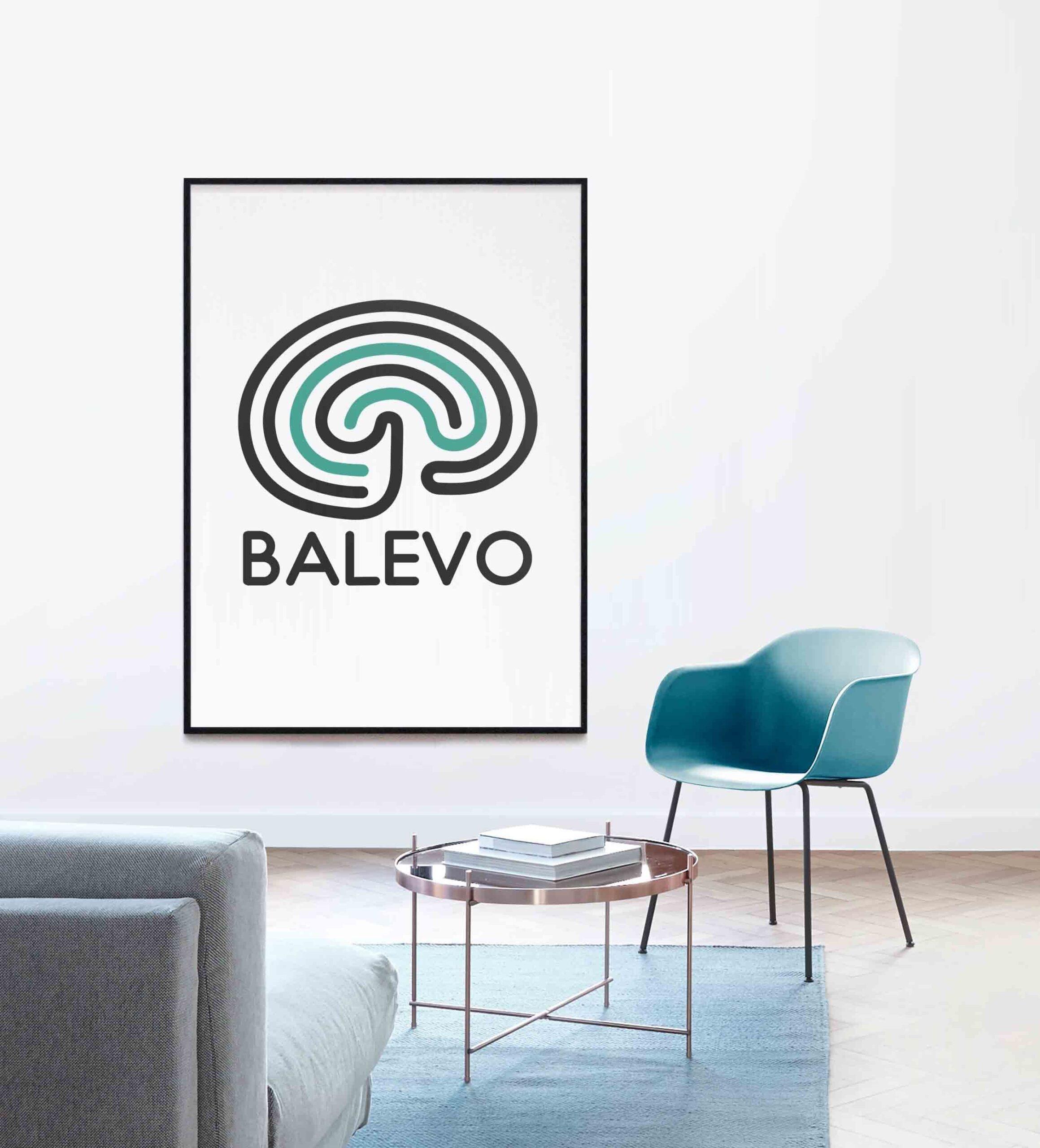 Bild på Balevo-logga och stol